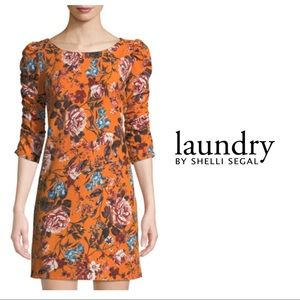 NEW Laundry By Shelli Rush sleeve floral dress